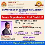"Webinar on ""FUTURE OPPORTUNITIES - POST COVID-19"""