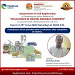 "webinar on ""Challenges in making durable concrete"""